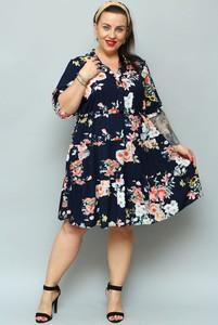 Sukienka KARKO z tkaniny w stylu casual