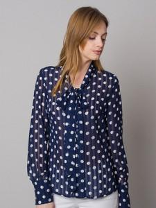 Bluzka Willsoor z dekoltem w kształcie litery v z długim rękawem z tkaniny