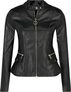 Czarna kurtka Guess Jeans w rockowym stylu