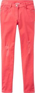 Różowe jeansy dziecięce bonprix John Baner JEANSWEAR