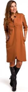 Pomarańczowa sukienka Style midi