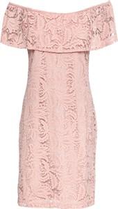 Różowa sukienka bonprix BODYFLIRT midi
