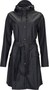 Czarny płaszcz Rains