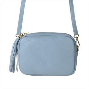 Genuine leather elegancka skórzana listonoszka niebieska m