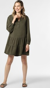 Zielona sukienka comma, koszulowa mini
