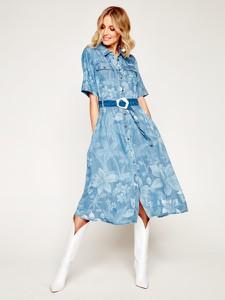Sukienka Desigual w stylu casual koszulowa z krótkim rękawem