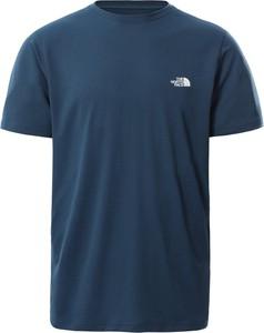Niebieski t-shirt The North Face z krótkim rękawem