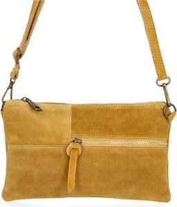 Żółta torebka VITTORIA GOTTI ze skóry w stylu retro mała