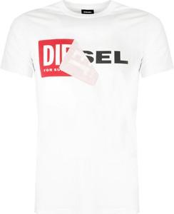 T-shirt Diesel z krótkim rękawem z bawełny w młodzieżowym stylu
