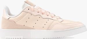 Różowe buty sportowe dziecięce Adidas ze skóry