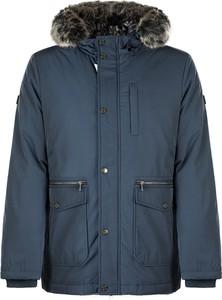 Niebieska kurtka ubierzsie.com z tkaniny w stylu casual