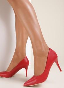 Czerwone szpilki Renee ze spiczastym noskiem
