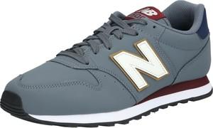 Niebieskie buty sportowe New Balance ze skóry sznurowane