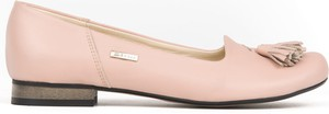 Baleriny Zapato z płaską podeszwą w stylu boho z nubuku