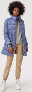 Niebieska kurtka Sinsay długa w stylu casual