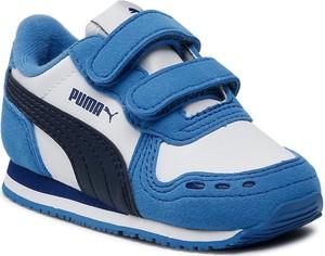 Niebieskie buty sportowe dziecięce Puma dla chłopców