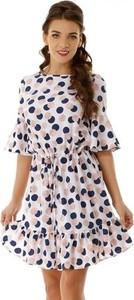 Sukienka Ella Dora z okrągłym dekoltem w stylu casual oversize