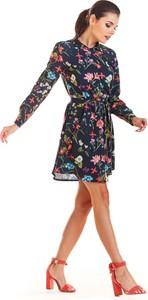Sukienka Infinite You szmizjerka z długim rękawem w stylu casual