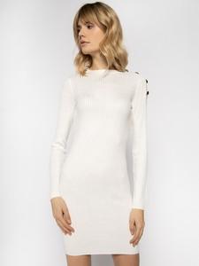 Sukienka Patrizia Pepe z okrągłym dekoltem w stylu casual z długim rękawem
