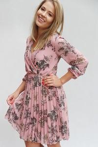 Sukienka Endoftheday kopertowa w stylu boho z długim rękawem