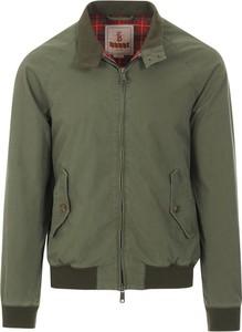 Zielona kurtka Baracuta krótka w stylu casual