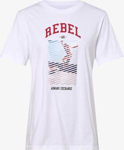 T-shirt Armani Jeans z okrągłym dekoltem z krótkim rękawem w młodzieżowym stylu