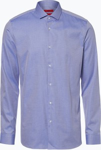 Niebieska koszula Hugo Boss z klasycznym kołnierzykiem