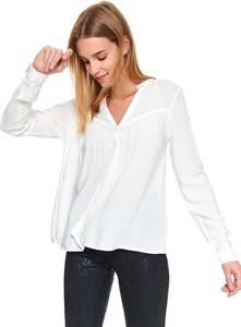 Koszula Top Secret z długim rękawem z dekoltem w kształcie litery v