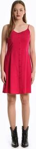 Czerwona sukienka Gate z dekoltem w kształcie litery v mini na ramiączkach