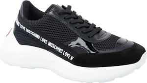 Sneakersy Love Moschino sznurowane z płaską podeszwą