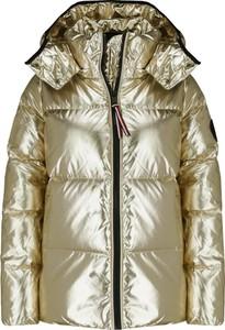 Złota kurtka Tommy Hilfiger w stylu casual krótka