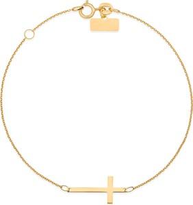 Viadem Srebrna bransoletka 925 poprzeczny krzyżyk