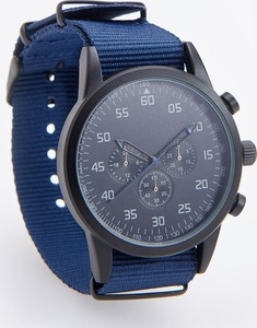 Reserved - Zegarek w sportowym stylu - Granatowy