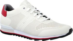 Buty sportowe Boss Athleisure ze skóry sznurowane