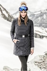 Kurtka Tiffi długa w stylu casual z tkaniny