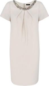 Sukienka Vitovergelis z okrągłym dekoltem z krótkim rękawem w stylu casual