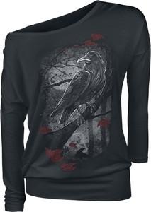 Czarna bluzka Emp z okrągłym dekoltem