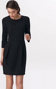 Sukienka Nife z długim rękawem z okrągłym dekoltem mini