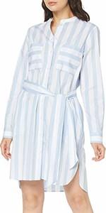 Sukienka amazon.de z dekoltem w kształcie litery v z jedwabiu koszulowa