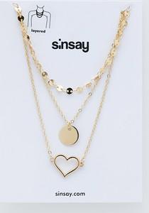 Sinsay - Naszyjnik - Złoty
