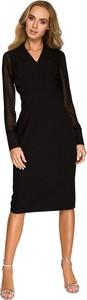 Sukienka Style w stylu casual z szyfonu z długim rękawem