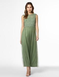 Zielona sukienka Vila maxi bez rękawów rozkloszowana