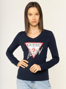 Bluzka Guess w młodzieżowym stylu z okrągłym dekoltem