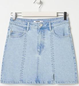 Niebieska spódnica Sinsay w stylu casual mini