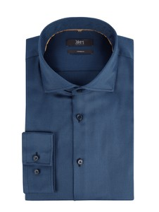 Niebieska koszula Jake*s z klasycznym kołnierzykiem z bawełny z długim rękawem