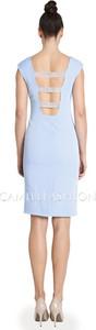 Sukienka Camill Fashion z tkaniny midi z dekoltem na plecach