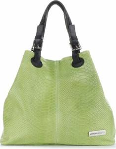 Zielona torebka VITTORIA GOTTI średnia w stylu casual