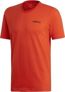 Czerwony t-shirt Adidas Performance