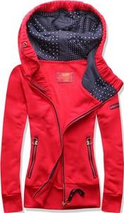 Czerwona bluza Netmoda z bawełny w sportowym stylu