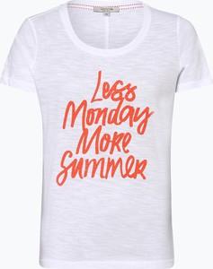 T-shirt comma, z okrągłym dekoltem